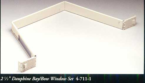 2 12 inch dauphine bay window curtain rod by