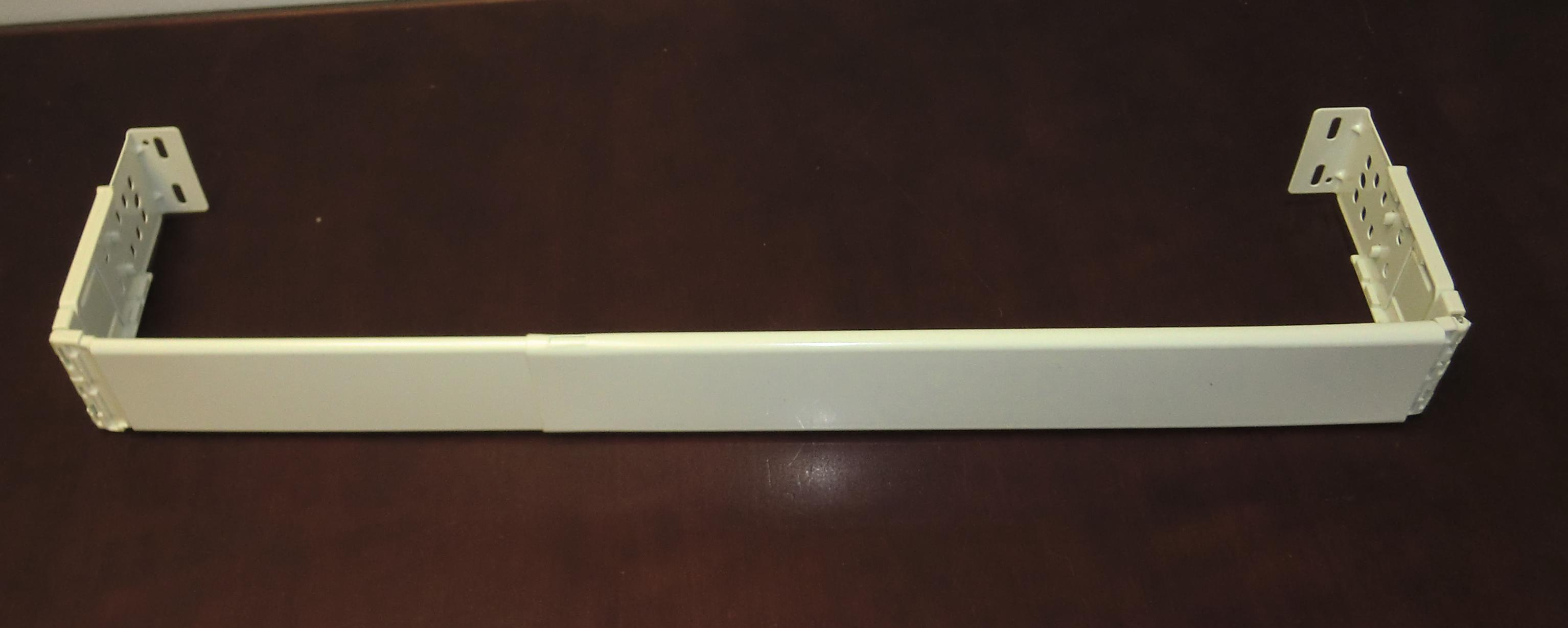 Graber dauphine rod flat valance rod 48 to 84 inches off white