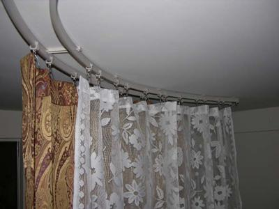 Curved Ceiling Mount Curtain Rods Curved Curtain Rods for Drapes