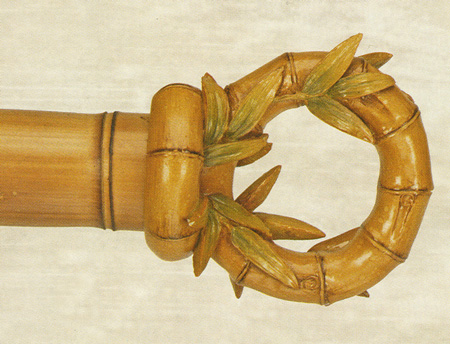 Bamboo Curtain Rod Finial by