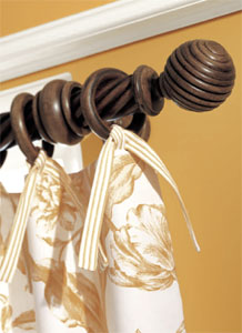 Bedpost Wood Curtain Rods