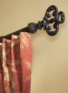 Ferraforte Wrought Iron Curtain Rods