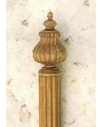 Wood Blooming Tulip Finial by  The Finial Company