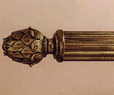 The Finial Company Pineapple Finial  3 Inch Curtain Rods