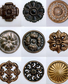 rosettes drapery medallions and curtain holders commonly used with a ...