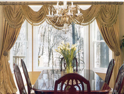 Traditional Bay Window Treatment