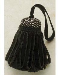 Tuxedo Key Tassel Black and Cream by