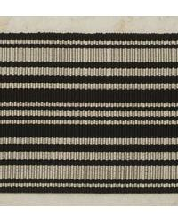 Striped Jacquard Tape Black and Cream by