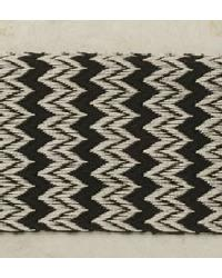 Flame Stitch Tape Black and Cream by
