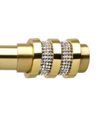 Ellipse Satin Brass Finial by