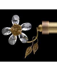 Petite Fleur Bronze Finial by