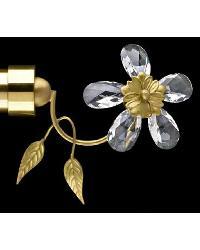 Petite Fleur Satin Brass Finial by
