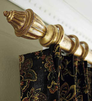Curtains Rods, Double Curtain Rod, Window Curtain Rods - Country