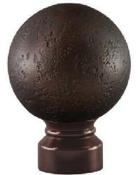 Rustic Forged Ball Curtain Rod Finial - Oil Rubbed Bronze by