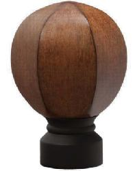 Carved Facet Ball Curtain Rod Finial - Matte Black by