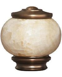 Vintage Stone Knob Curtain Rod Finial - Brushed Bronze by