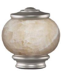 Vintage Stone Knob Curtain Rod Finial - Satin Nickel by