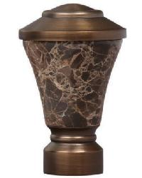 Fluted Stone Trumpet Curtain Rod Finial - Brushed Bronze by