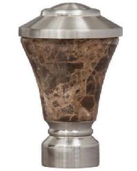 Fluted Stone Trumpet Brushed Nickel by