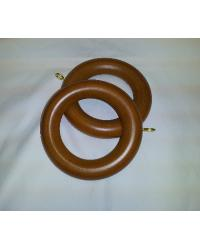 2 Inch Warm Oak Wood Curtain Rings by  Graber