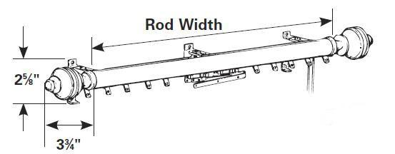 Windsor Traverse Rod - Brushed Nickel - InteriorDecorating