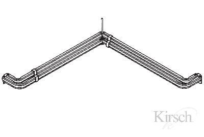Amazon.com: Levolor-kirsch 13291 Single Curtain Rods, White: Home