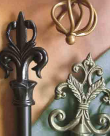 LJB Wrought Iron Curtain Rods