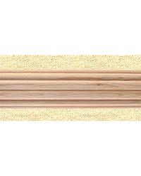 1 3/8in Dia. Reeded Wood Pole 4ft UNFINISHED by