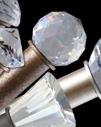 Swarovski Crystal Elements Curtain Rods