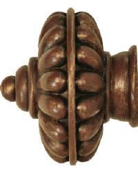 Beauregard Curtain Rod Finial 2 inch by