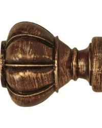 Crown Curtain Rod Finial 2 inch by