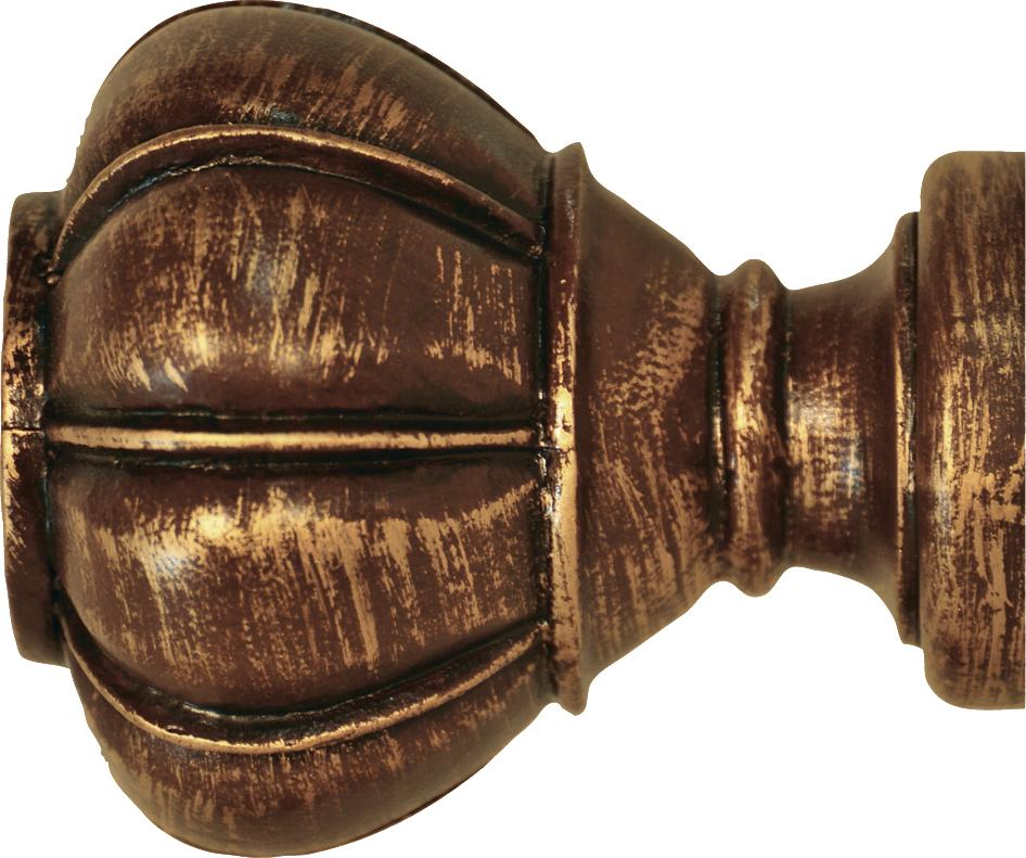 Crown Curtain Rod Finial 2 inch Curtain Rods