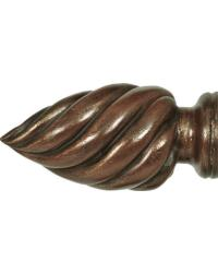 Swirl Curtain Rod Finial 3 inch by