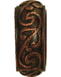 Iron Scroll Curtain Rod End Cap 2 inch by