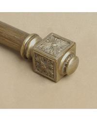 Medallion Knob Finial by  Robert Allen Hardware