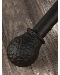 Hammered Ball Curtain Rod Finial by