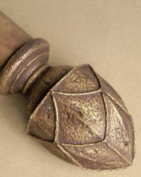 Saxon Small Curtain Rod Finial by