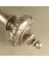 King Curtain Rod Finial by