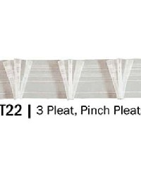 3 Pinch Pleat Drapery Header Tape by