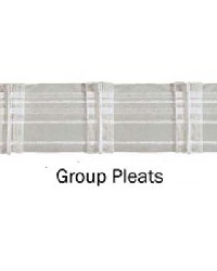 Group Pleats Drapery Header Tape by