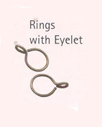 Black Curtain Ring with Eyelet Pkg of 10 by