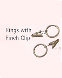 Ring with Pinch Clip -10 per pkg by