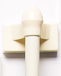 Magnetic Cafe Curtain Rod Ivory by
