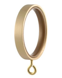 Flat Curtain Ring Brushed Brass by