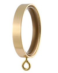 Flat Curtain Ring Polished Brass by