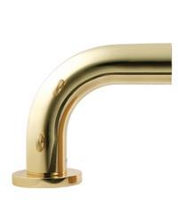 Incurve Elbow Bracket Polished Brass by