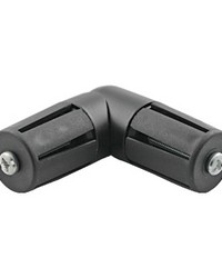 Elbow Tube Connector Black by