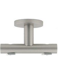 Double Ceiling Bracket Satin Aluminum by