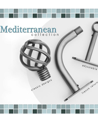 Mediterranean Iron Curtain Rods