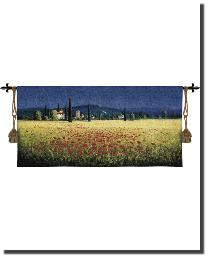 Tuscan Panorama Poppies by